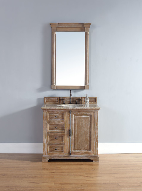 36 Inch Providence Driftwood Grey Single Sink Vanity Traditional Bathroom San Diego By