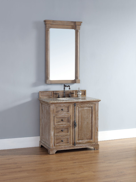 36 Inch Providence Driftwood Grey Single Sink Vanity Transitional Bathroom San Diego By