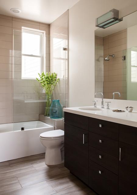 39th Avenue San Francisco Transitional Bathroom San