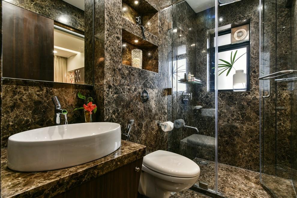 4 Bedroom Mumbai Apartment Contemporary Bathroom Mumbai By Aum Architects