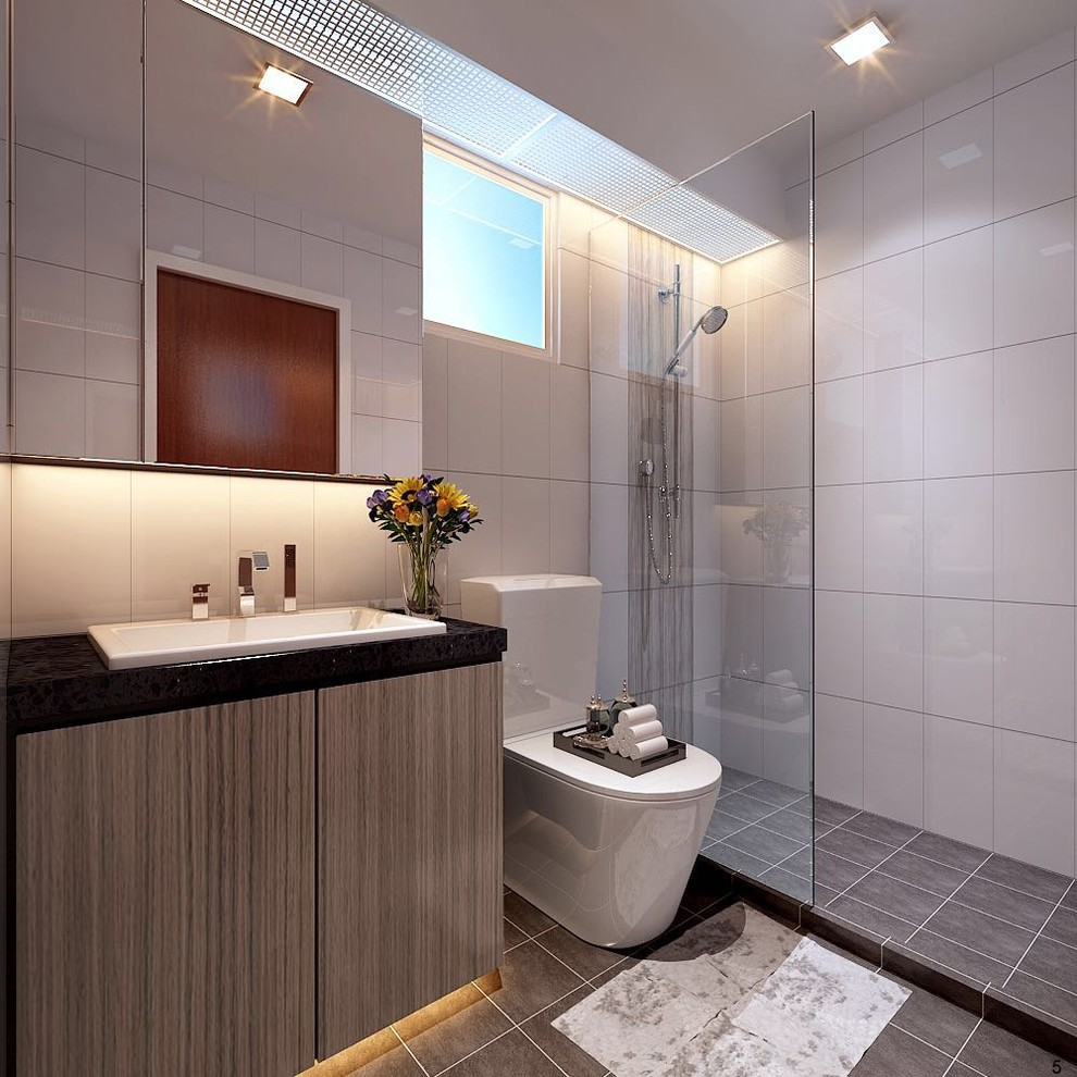 4 Room Bto Hdb Bathroom Singapore By Navius Interior Pte Ltd