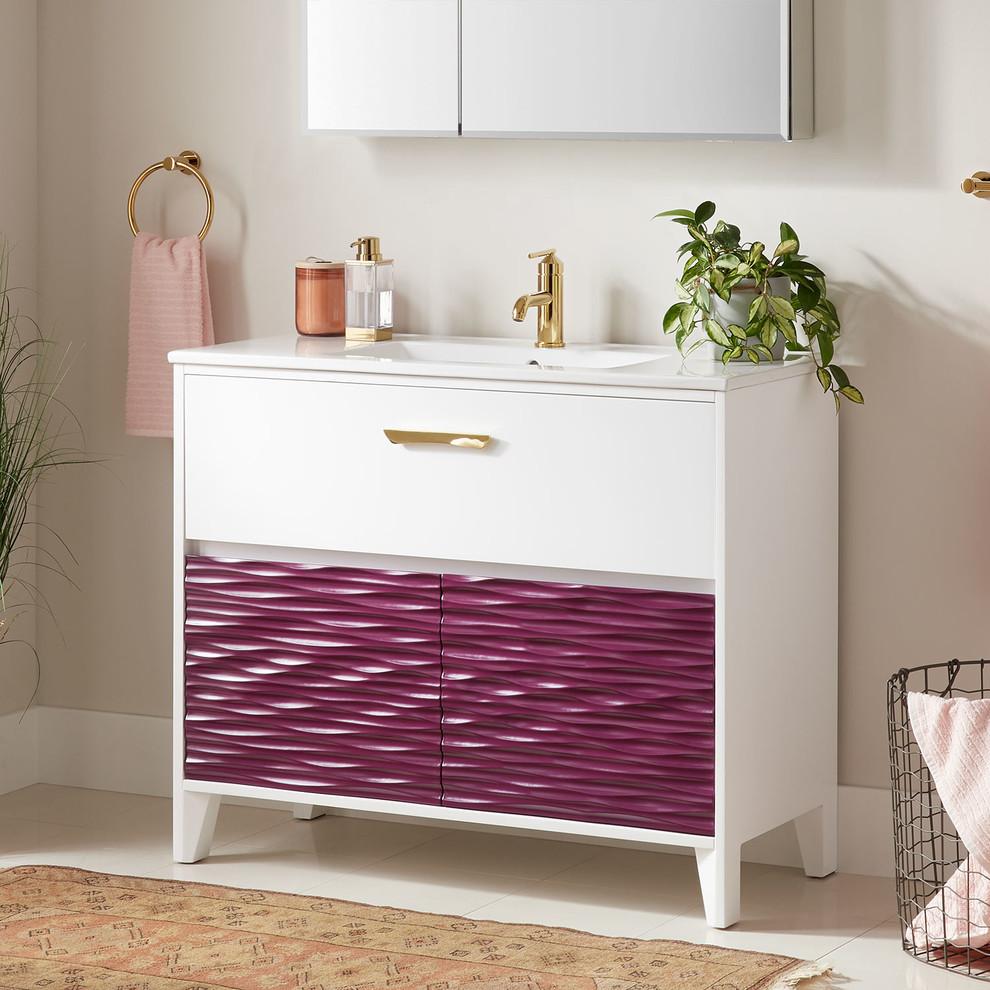 "40"" Iris Vanity - Elderberry - Contemporary - Bathroom ..."