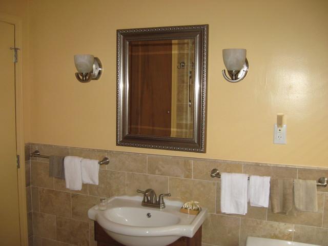 Mediterranean Bathroom Remodels: 50's BATH REMODEL