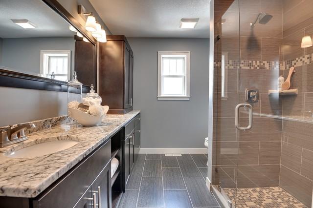53rd drew ave minneapolis fulton neighborhood for Transitional bathroom design photos