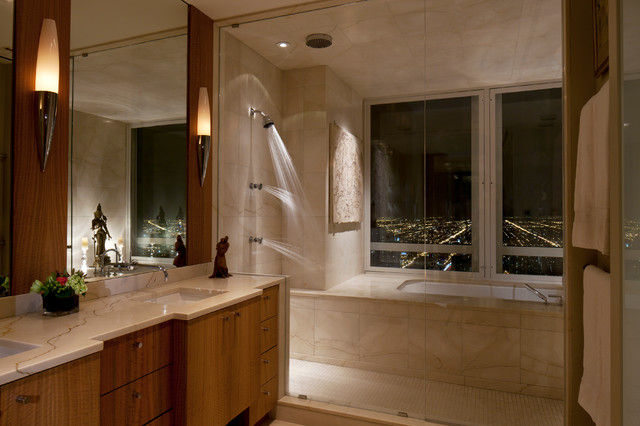 55 E Erie Chicago Contemporary Bathroom Chicago