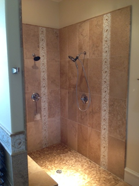 5x7 Walk In Shower Farmhouse Bathroom Dallas By