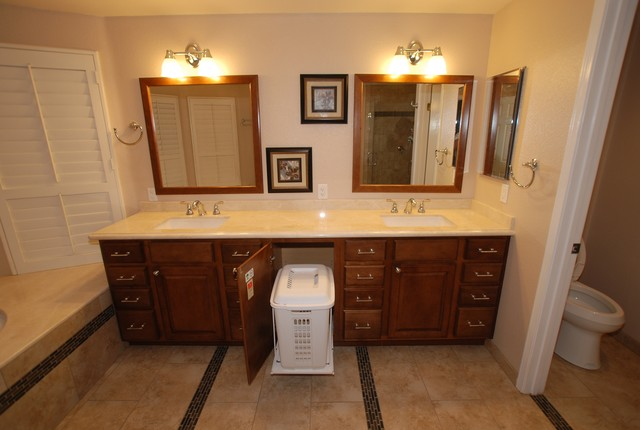 6 Foot Tub in Window Alcove & Glass Tile Inlaid Floors & Shower ...