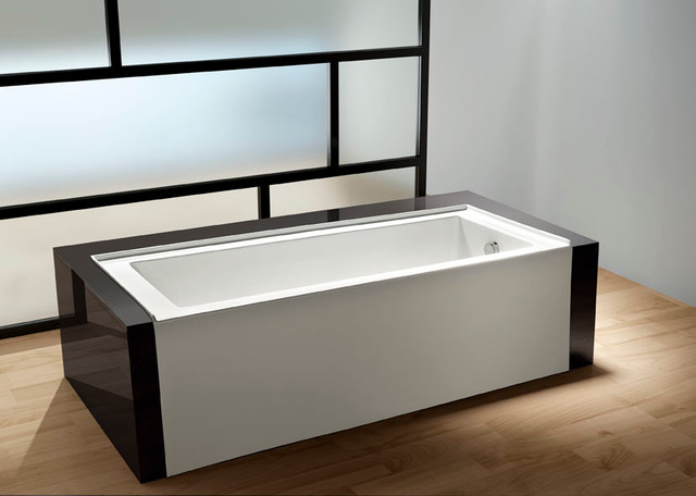 60 Contemporary Alcove Acrylic Bathtub