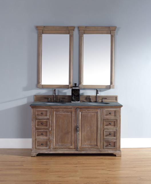 60 inch providence driftwood grey double sink vanity for Bathroom vanities in san diego