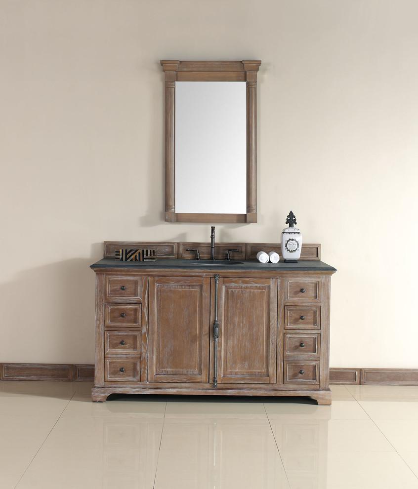 60 Inch Providence Driftwood Grey Single Sink Vanity ...