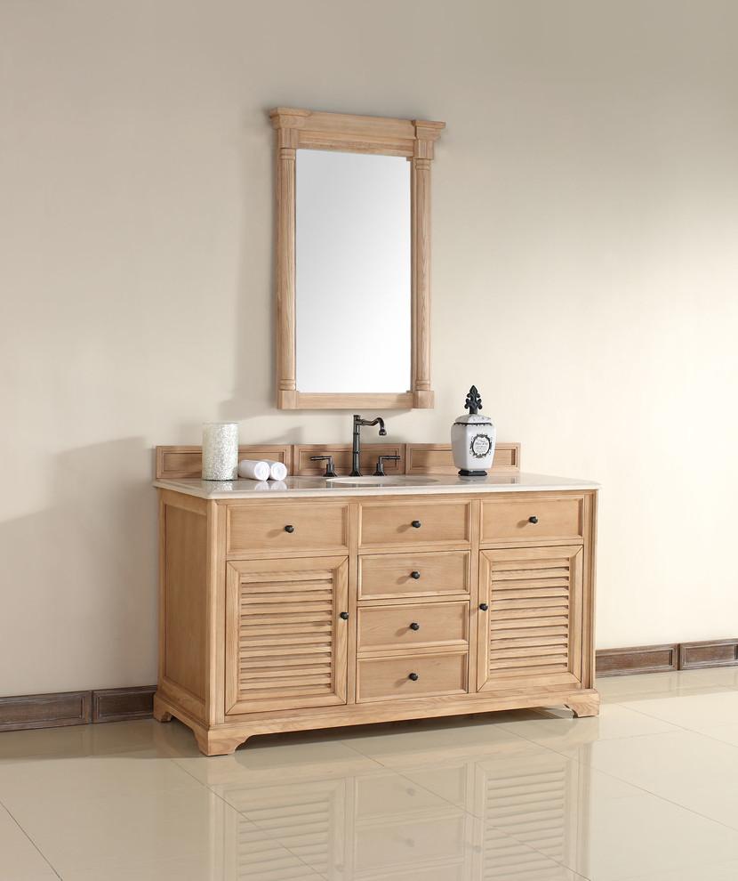 60 Inch Savannah Natural Oak Single Sink Vanity ...