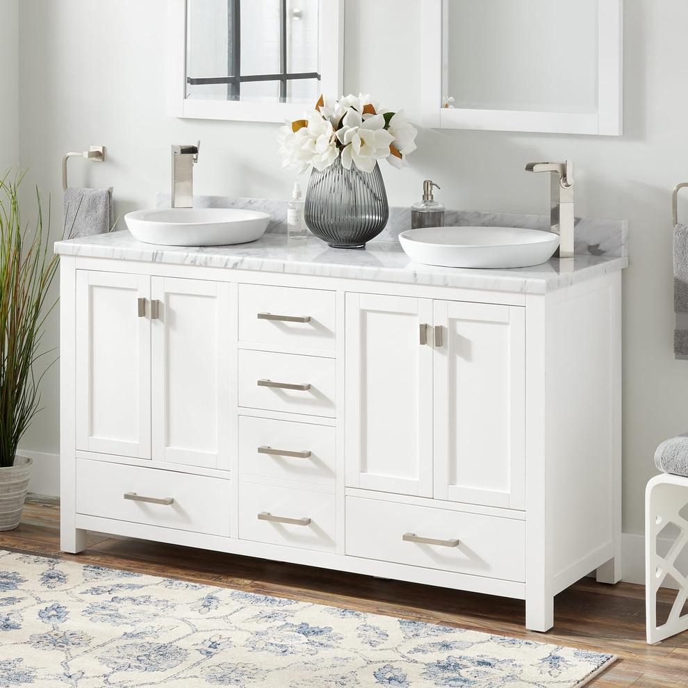 "60"" Modero Double Vanity For Semi-Recessed Sink - White ..."