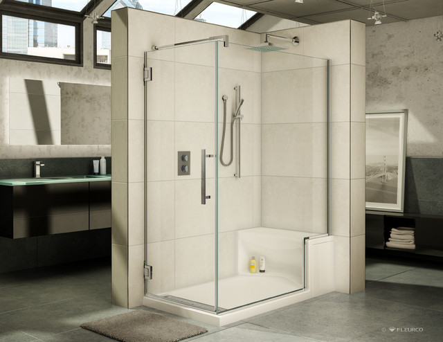 60 x 32 high end acrylic shower base and bench seat with a