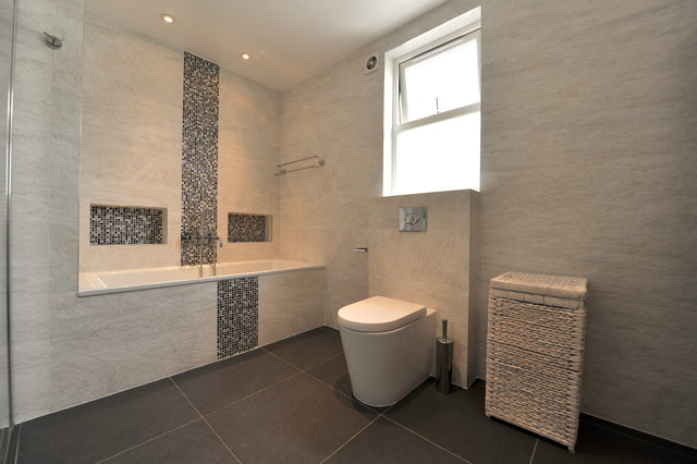 61 melrose avenue london nw2 contemporary bathroom Bathroom design company london