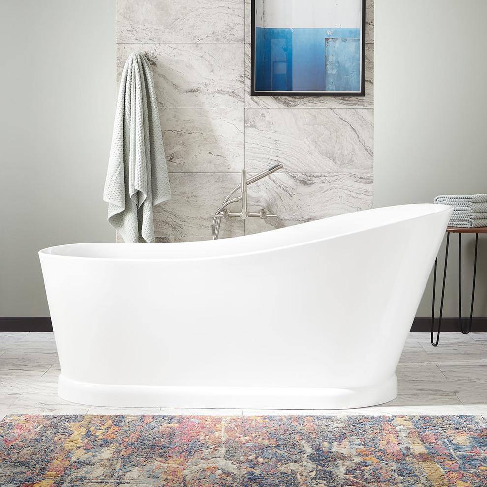 """67"""" Northwich Acrylic Freestanding Slipper Tub - Bathroom ..."""