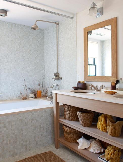 67 union beach style bathroom new york by rosenberg kolb architects - Salle de bain theme mer ...