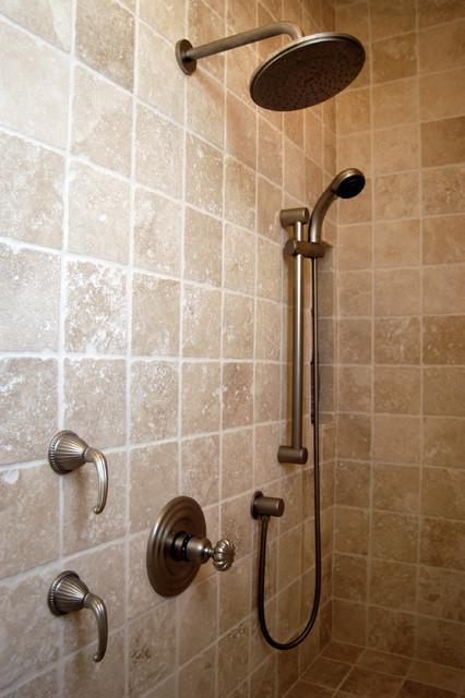 6x6 Tumbled Travertine Bathroom