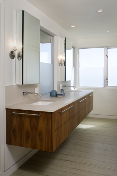 70s Renovation modern bathroom