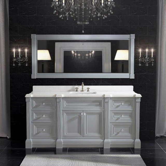 72 inch gray finish single sink bathroom vanity cabinet - 72 inch single sink bathroom vanity ...