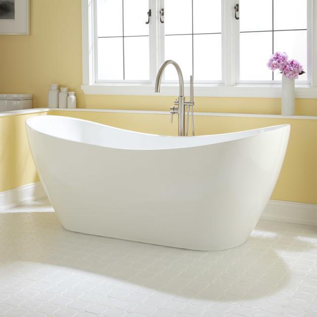 72 Sheba Acrylic Double Slipper Tub Contemporary Bathroom Cincinn