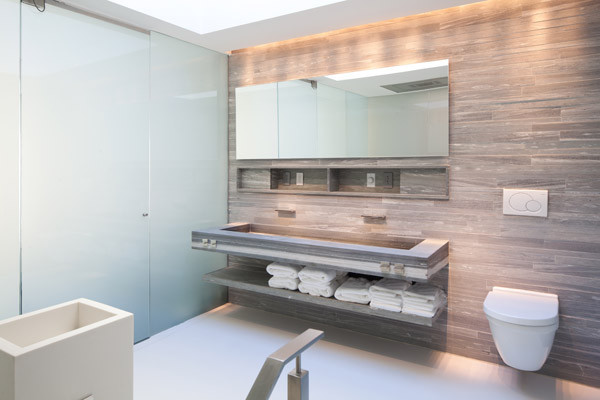 73rd Street Penthouse contemporary-bathroom