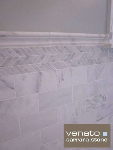 7sf carrara marble subway tile traditional bathroom