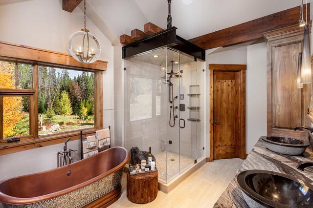 9 Peak Eight Circle Bathroom Rustic Bathroom