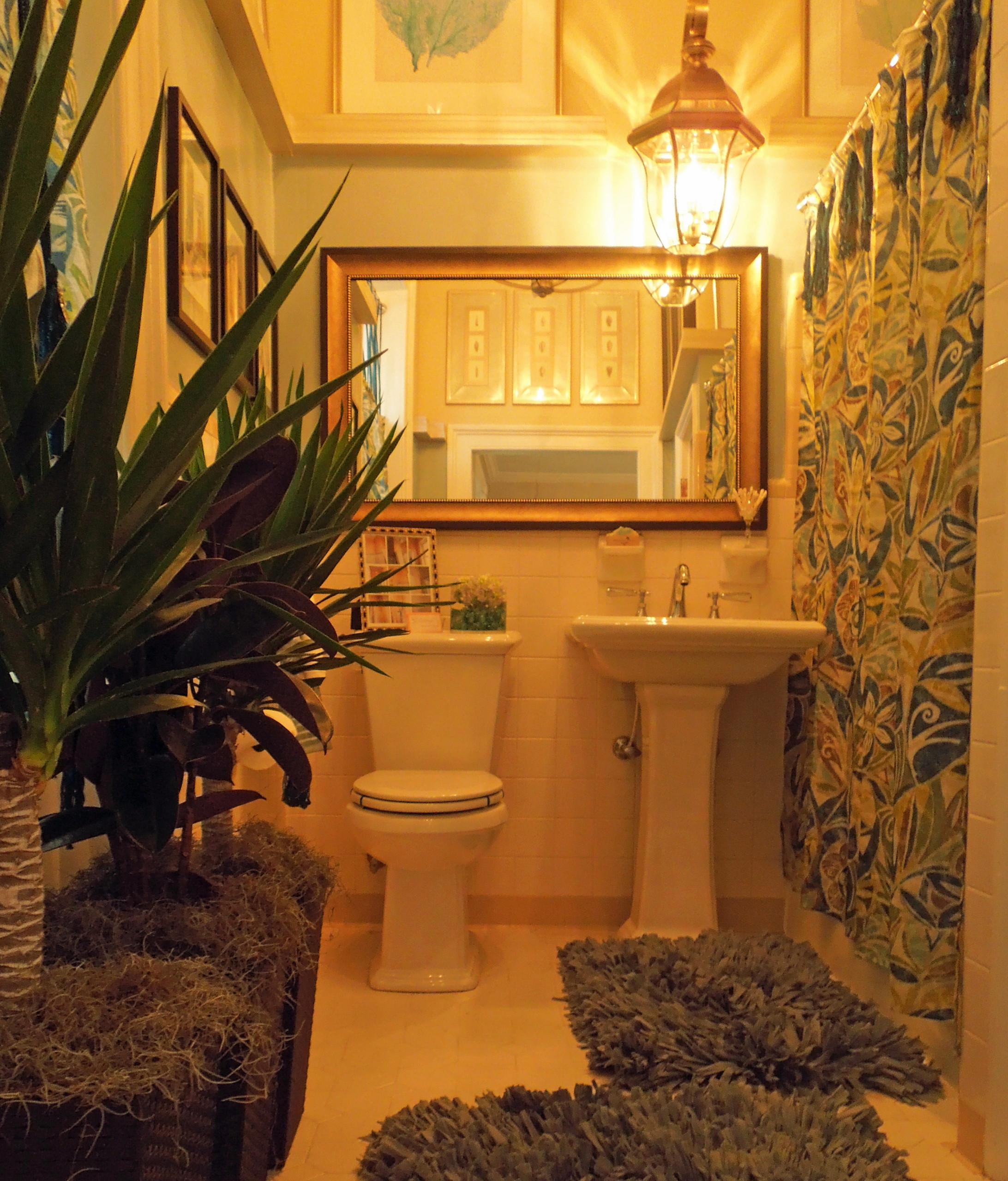 A bathroom for a bride