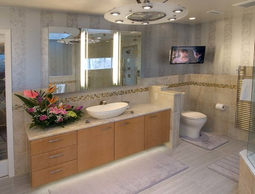 Where are the floor tiles and wall tiles from for Bathroom design 7x12