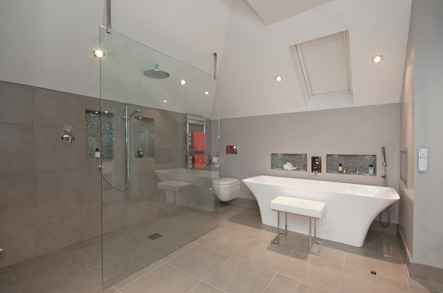 A beautiful co down bathroom by soaks contemporary for Bathroom design belfast