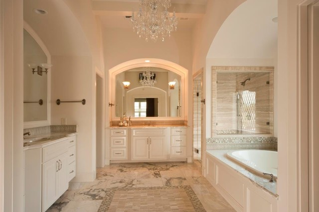 A classic family home traditional bathroom houston for Classic family home
