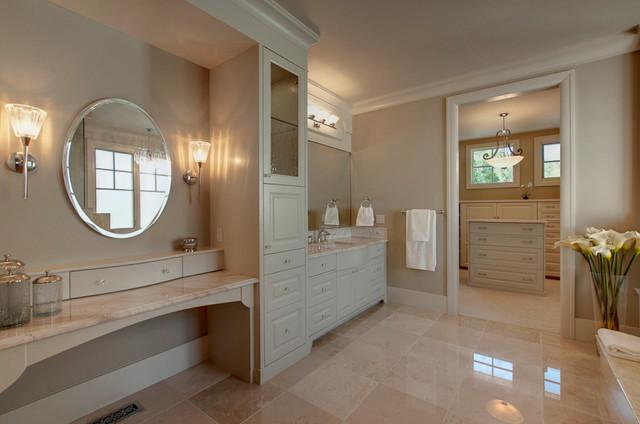 A collaborative design group traditional bathroom for Bathroom decor calgary