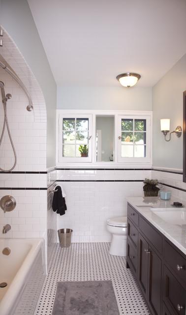 A Fresh Take On Tudor Guest Bathroom Traditional Bathroom Minneapolis By Trehus