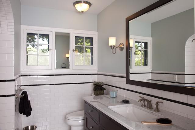 A Fresh Take on Tudor - Guest Bathroom traditional-bathroom