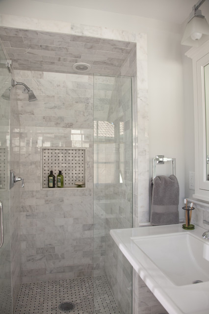 A Fresh Take on Tudor - Master Bath traditional-bathroom