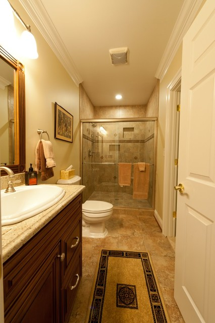 A Home in the Basement Adds Space for Family in Ashburn, Virginia contemporary-bathroom