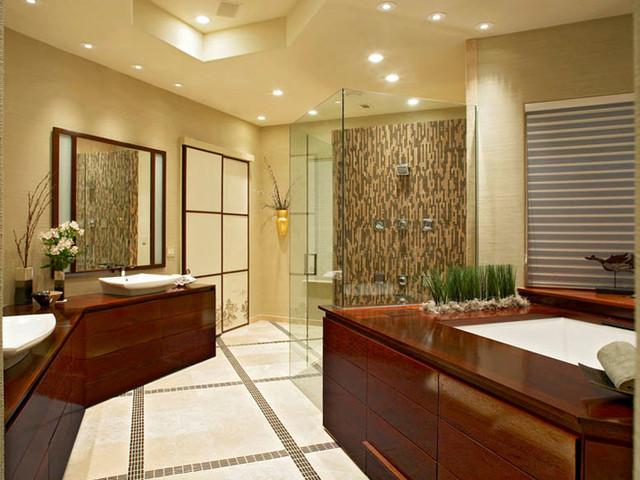A Japanese Bath House Asian Bathroom Dallas By Hilsabeck Design Associates Inc