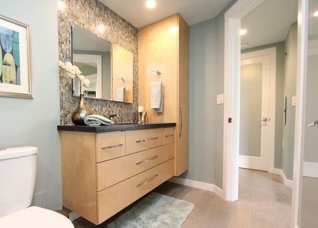 A Mid-Century Modern Inspired Condo midcentury-bathroom