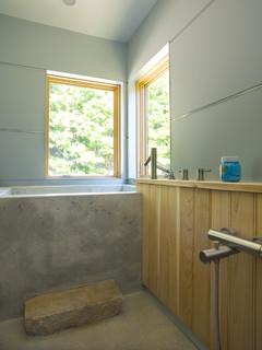 a modern lake house contemporary bathroom burlington. Black Bedroom Furniture Sets. Home Design Ideas