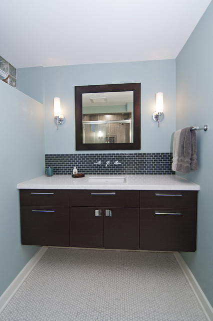 modern bathroom by White Crane Construction