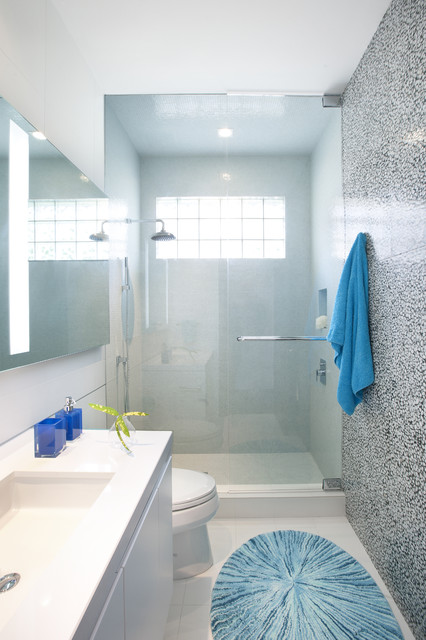 Bathroom Tiles Miami a modern miami home - contemporary - bathroom - miami -dkor