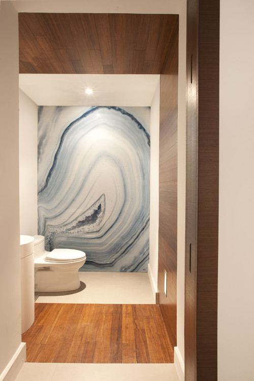 modern bathroom Natural Works of Art: Agate in the Home