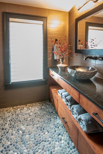 A Mountain Modern Home, Asheville NC contemporary-bathroom