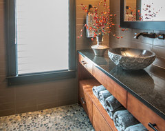 A Mountain Modern Home, Asheville NC contemporary-bathroom
