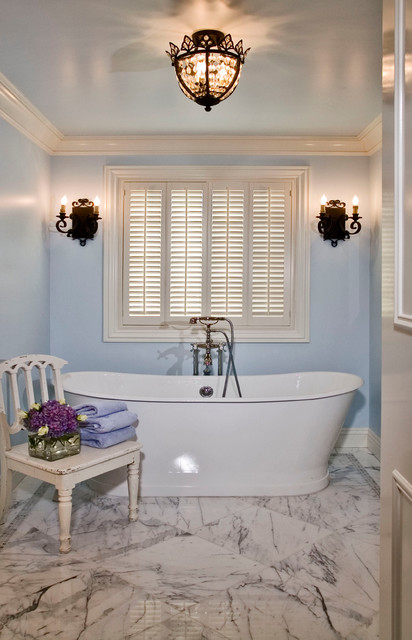 A newport beach lido island french provincial manor for French provincial bathroom designs