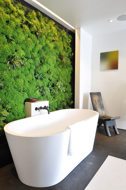 A Sacred Space to Bathe by siol and Habitat Horticulture contemporary-bathroom