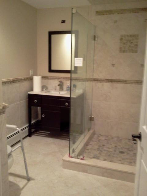A small ada compliant bathroom contemporary bathroom for Kitchen remake ideas