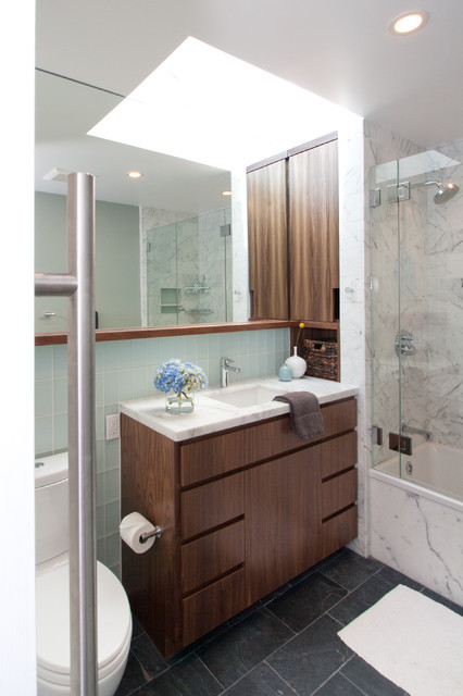 A Small Oasis Midcentury Bathroom San Francisco By