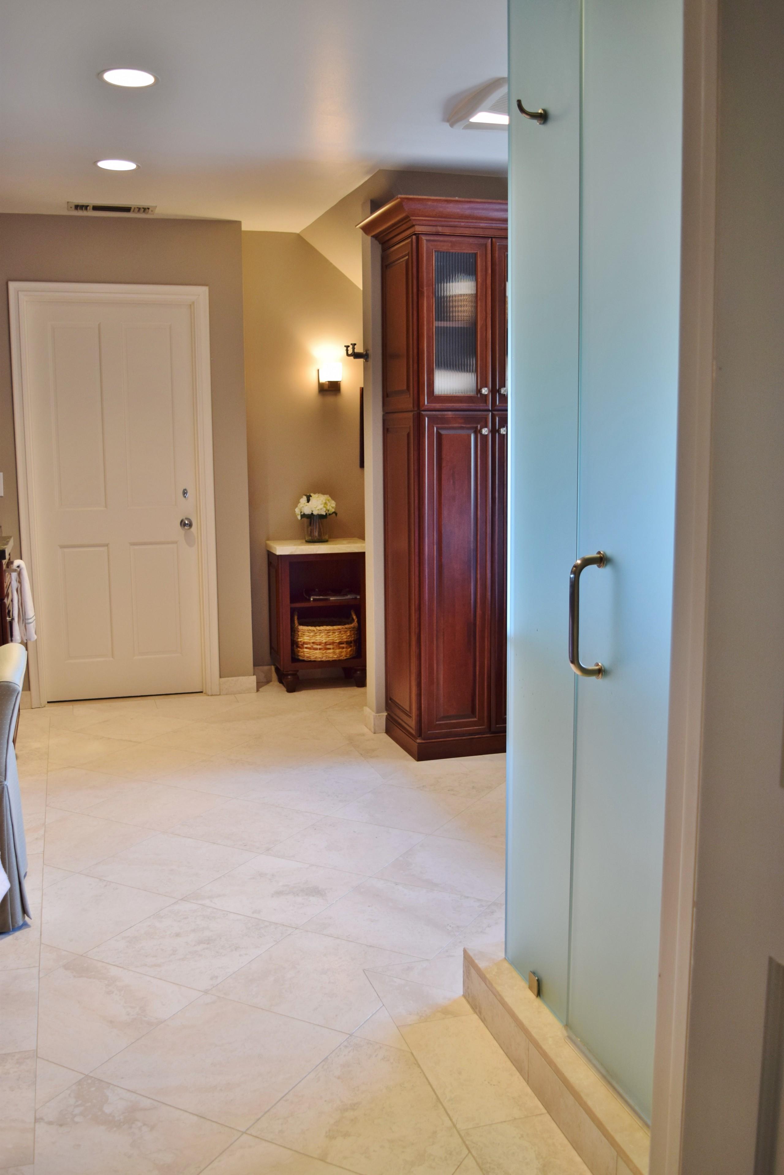 A Spa-Inspired Master Bath Remodel for a Client in La Canada, Ca.