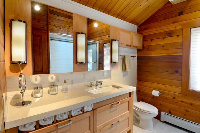 A Splash Of Bathrooms Rustic Bathroom Seattle By Richard Landon Design